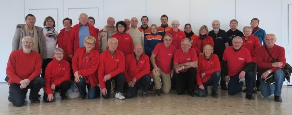 Des encadrants issus de la Croix Rouge, de la Protection civile, des Sapeurs-pompiers, de l'Ufolep et du Club Cœur et Santé lors de la formation 2018.