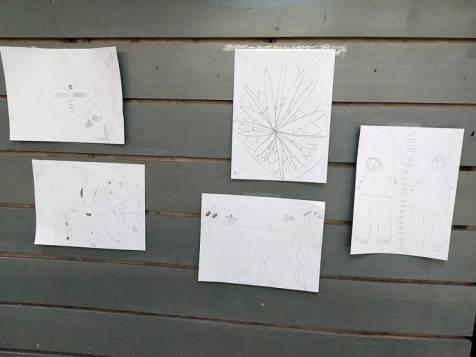 Des enfants de donneurs ont réalisé des dessins.