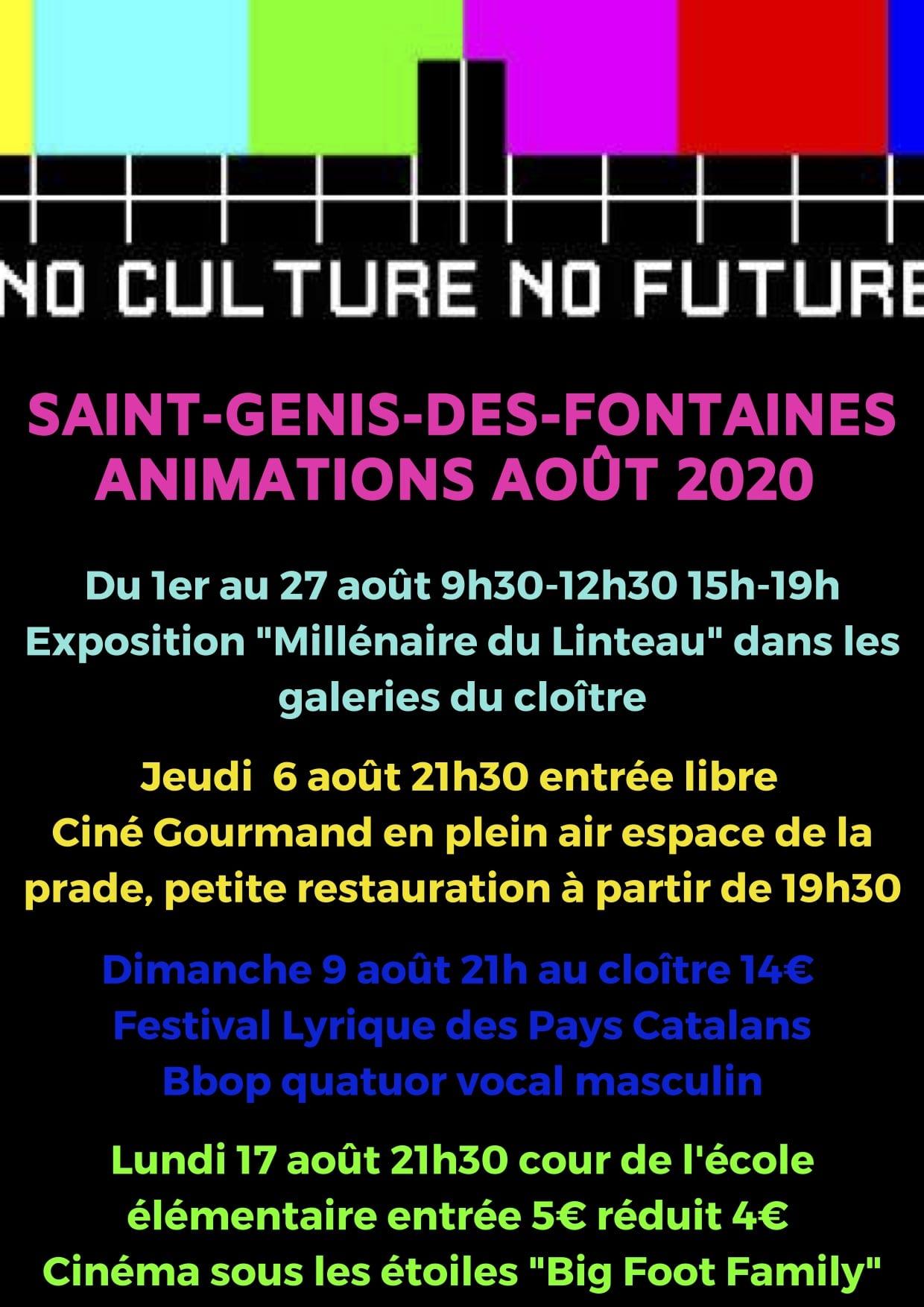Programme août 2020