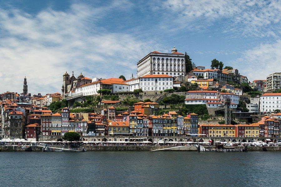 Vu du port de porto au Portugal