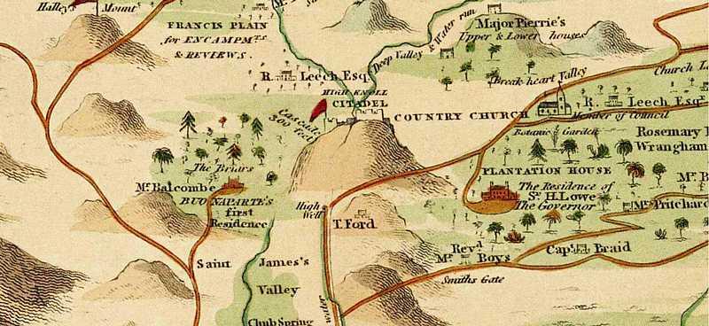 High Knoll Citadel - Read, 1817 [Saint Helena Island Info:High Knoll Fort]