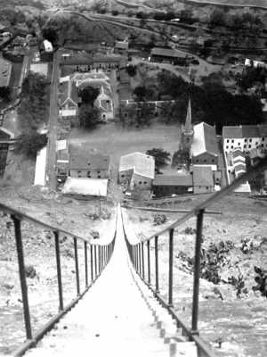 View from the top in c1900 [Saint Helena Island Info:Jacob's Ladder]