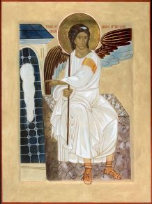 The Angel at the Tomb of the Lord. One of the icons at our Resurrection Shrine.