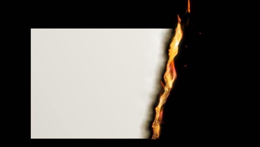 Perubahan kimia membakar kertas