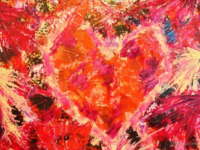 broken heart abstract