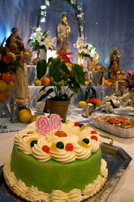 Saint Joseph's Day Groppo Family Selma Bell 90th Birthday copyright Kim Smith