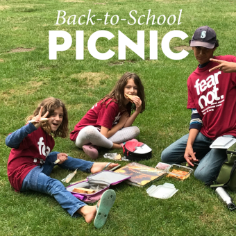 Back-to-School Picnic on the Cathedral Lawn with Backpack Blessing
