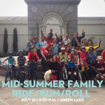 Mid-summer Family Ride/Run/Roll around Greenlake