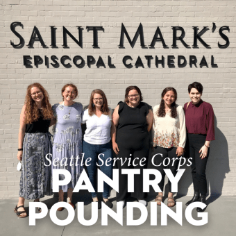 """Seattle Service Corps """"Pantry Pounding"""" and Porch Reception"""