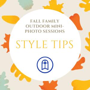 Mini-Session Style Tips: Family Photo Fundraiser Oct. 18 & Oct. 25 @ SMCS