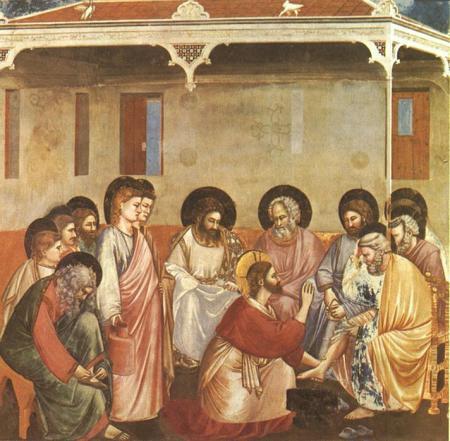 Giotto (1267-1337), Le lavement des pieds, chapelle Scrovegni