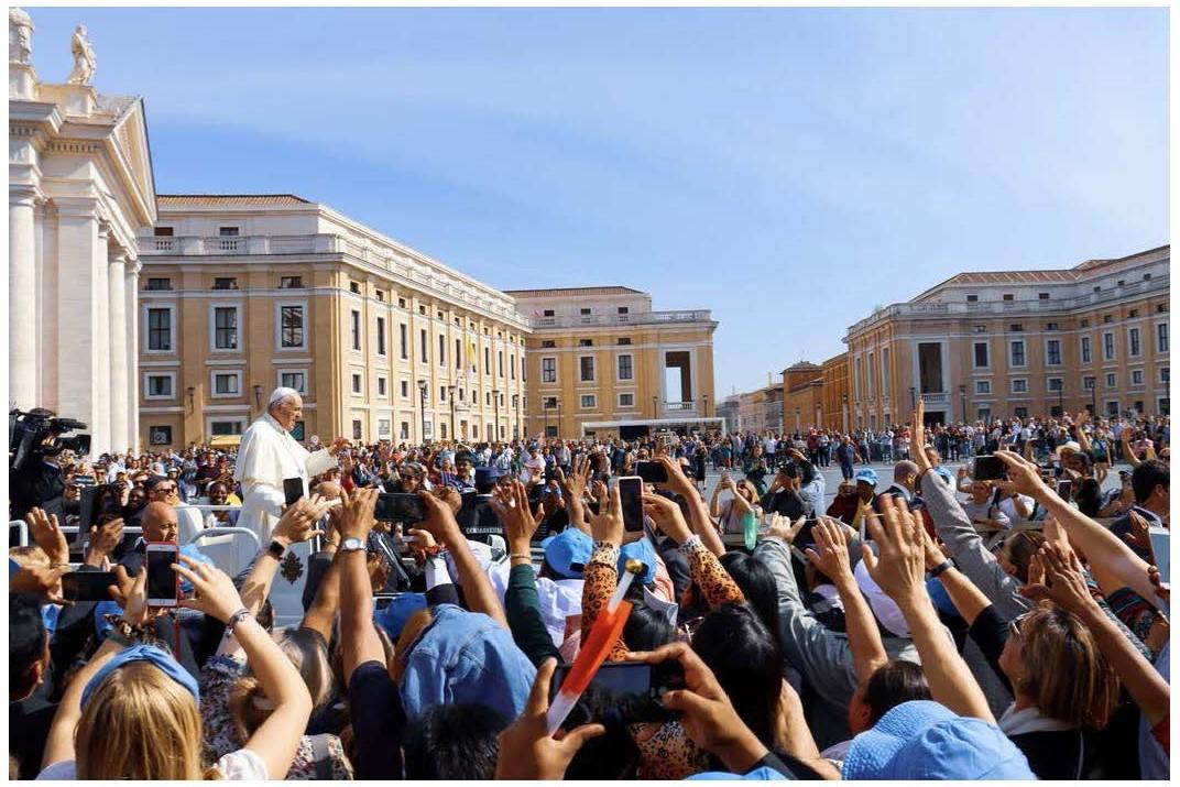 photo avec pape