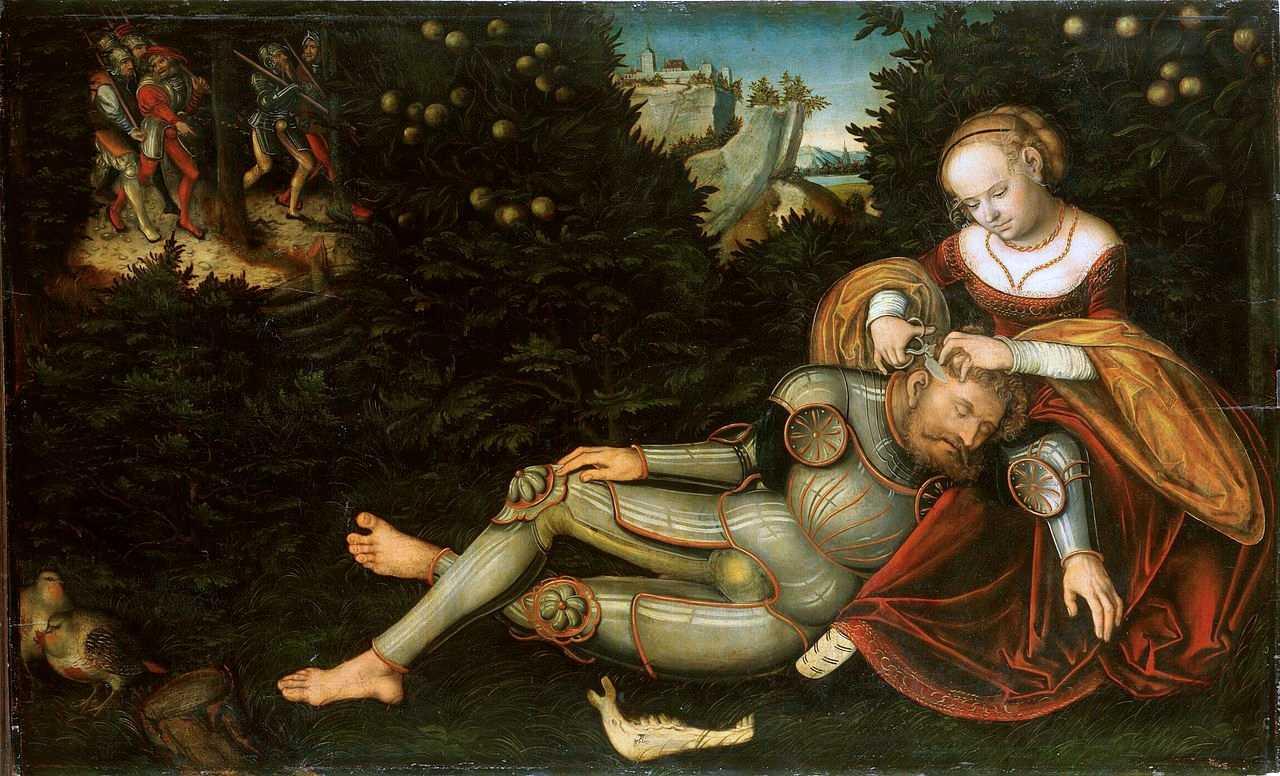 Cranach-le-Jeune-Dalila-coupant-les-cheveux-à-Samson-1537-Gemäldegalerie-Alte-Meister-Dresde-22
