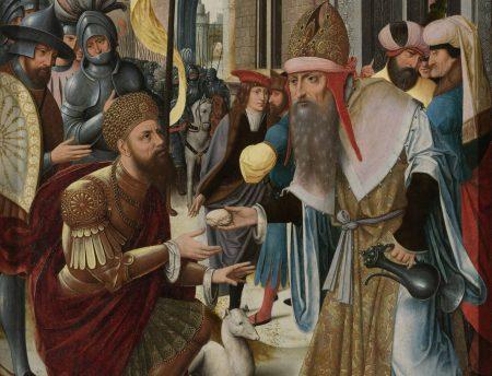Anonyme flamand, La rencontre entre Abraham et Melkisedeq, 1510-1520, Rijksmuseum, Amsterdam (détail)