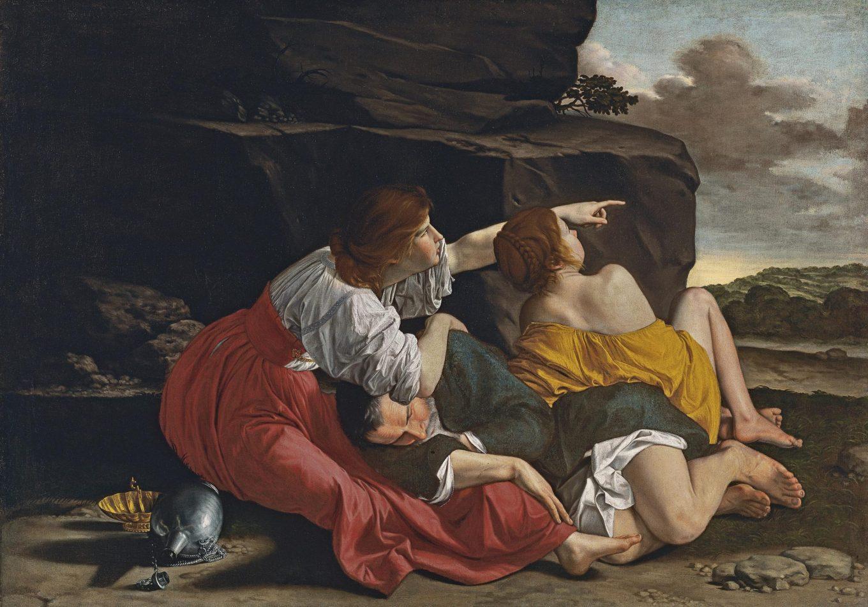 Orazio Gentileschi (atelier de), Loth et ses filles, 1621-1623, Musée Thyssen-Bornemisza, Madrid