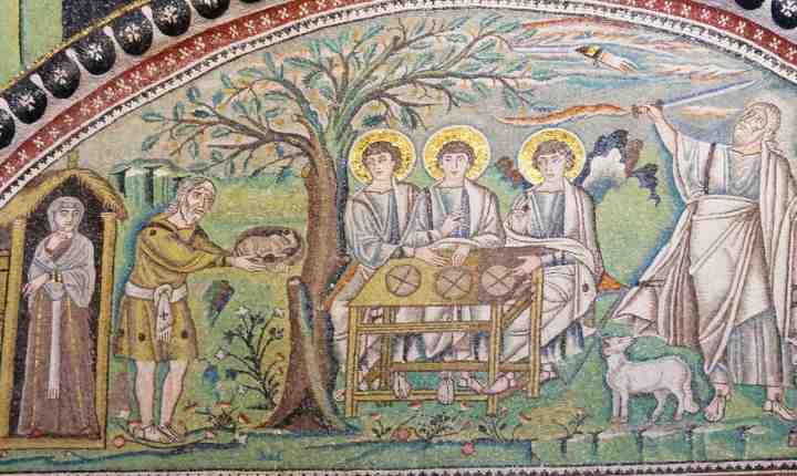 Abraham-Basilique-San-Vitale-Ravenne-537-545-mosaïque