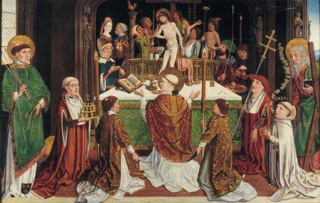 Meester van de Heilige Sippe-La messe de saint Grégoire-Utrecht