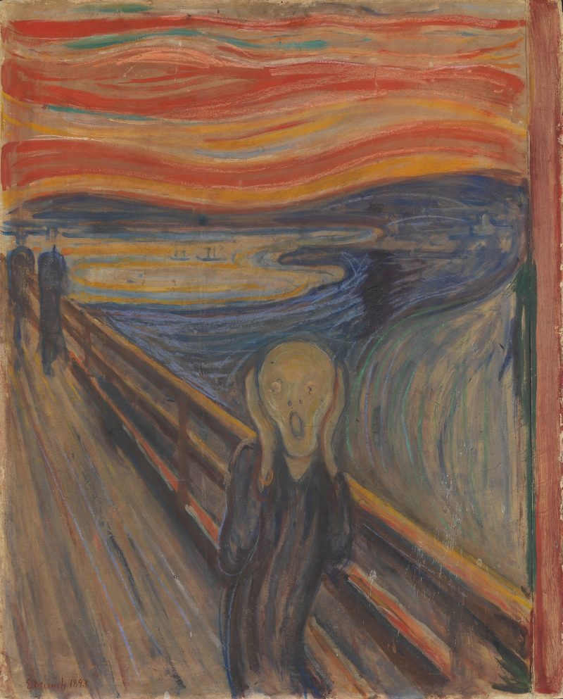 Edward Munch, 1893, The Scream, oil tempera and pastel, National Gallery of Norway