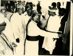 Bishop Seth Kale,with Oba Oyekan II, Chief Obafemi Awolowo
