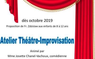 Atelier théâtre pour les enfants de 8 à 12 ans