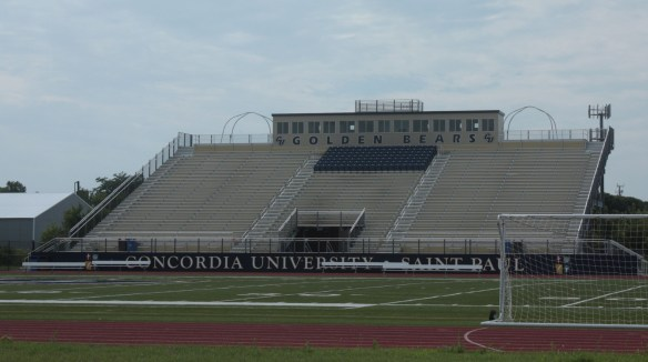 The Concordia University football stadium, known as Sea Foam Stadium, and track are on Hamline Avenue, just south of the I-94 frontage road. In the winter a large inflatable dome covers the field.