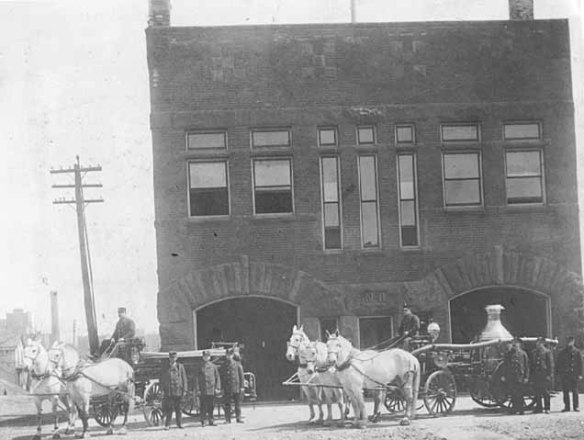 Fire station 11 circa 1900. Courtesy Minnesota Historical Society