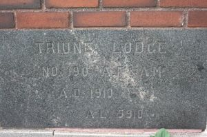 Truine Lodge cornerstone.