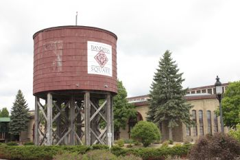 This old water tower is just off Energy Park Drive.