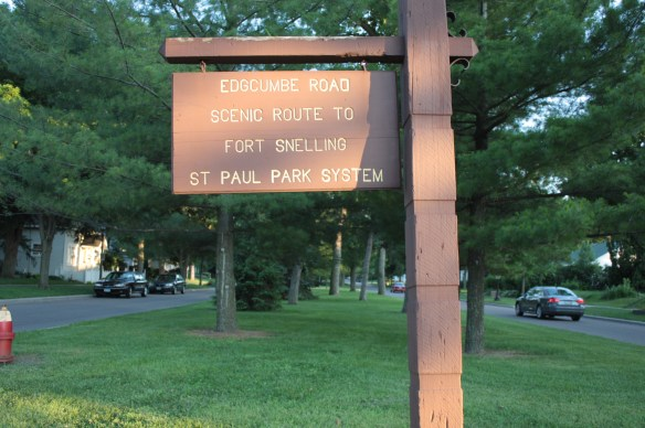 This sign welcomes all who pass Edgcumbe at Jefferson Avenue.