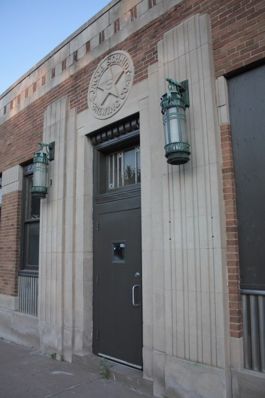The bottling house and Rathskeller (above) are not part of the Schmidt Artists Lofts renovations. There is talk of converting the two buildings into a restaurant, microbrewery and brewery museum.