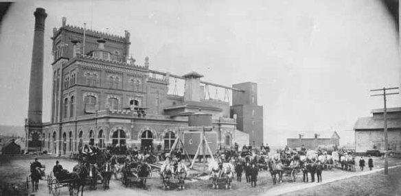 The Schmidt Brewery circa 1905. Courtesy Minnesota Historical Society.
