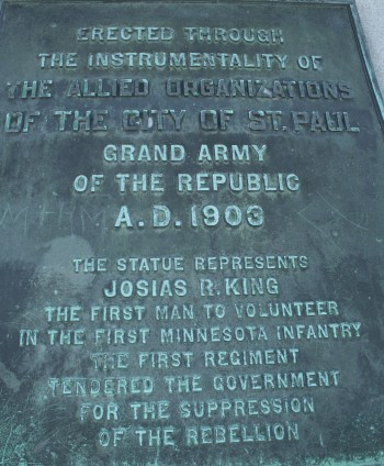 All four sides of the Soldiers and Sailors Memorial feature prominent bronze plaques.
