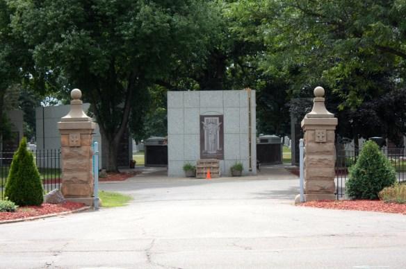 Peering into the Calvary Cemetery