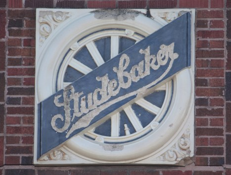 While not in pristine condition, the Studebaker sign still looks good.