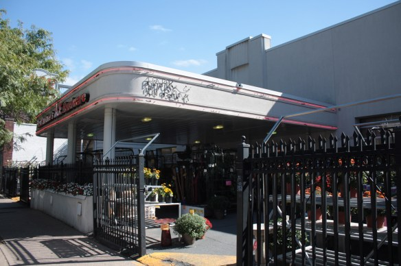 Although this hardware store building and property at 650 Grand has undergone significant change since 1945 when it was Crocus Hill Garage, a couple of visual cues remain.