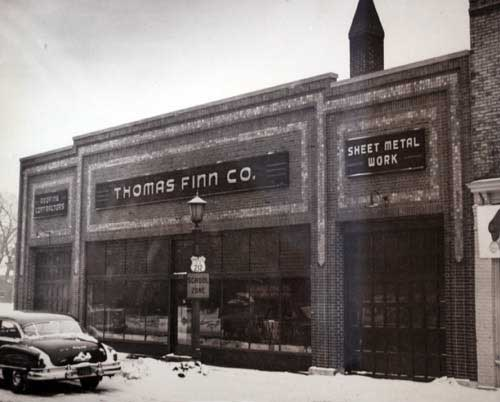 Thomas Finn Roofing was one venture in the easternmost building, 370 Dayton.