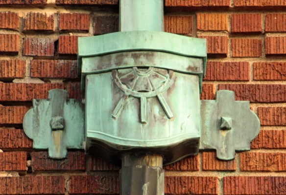 The decorative drain pipe on Station 5.