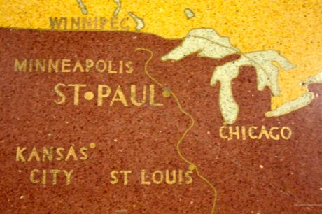 """St. Paul"" is in larger type than ""Minneapolis"", as it should be."
