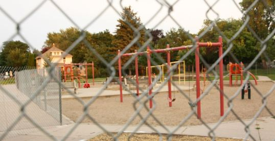 A major renovation of MLK Rec Center began with a new playground.