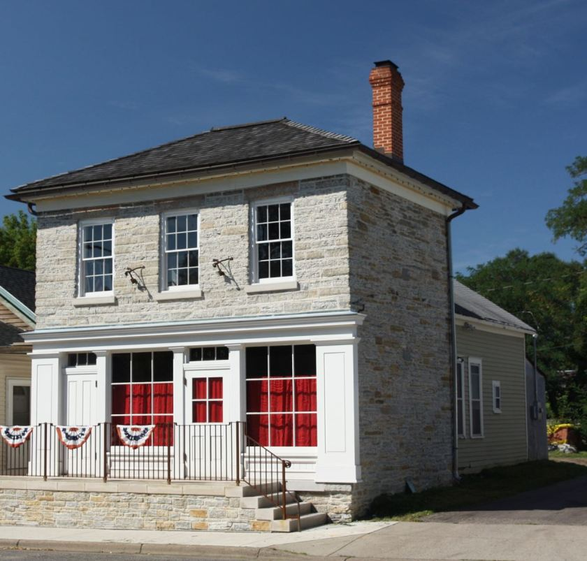 Charles Fuchs built the original single story wood frame portion of the building about 1855 and some two years later, tacked on a limestone addition.