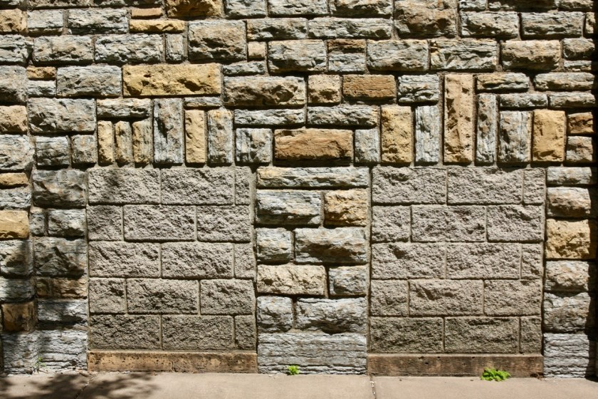 The brickwork by Works Progress Administration masons in 1937 and '38 is interrupted by more recent blocks.