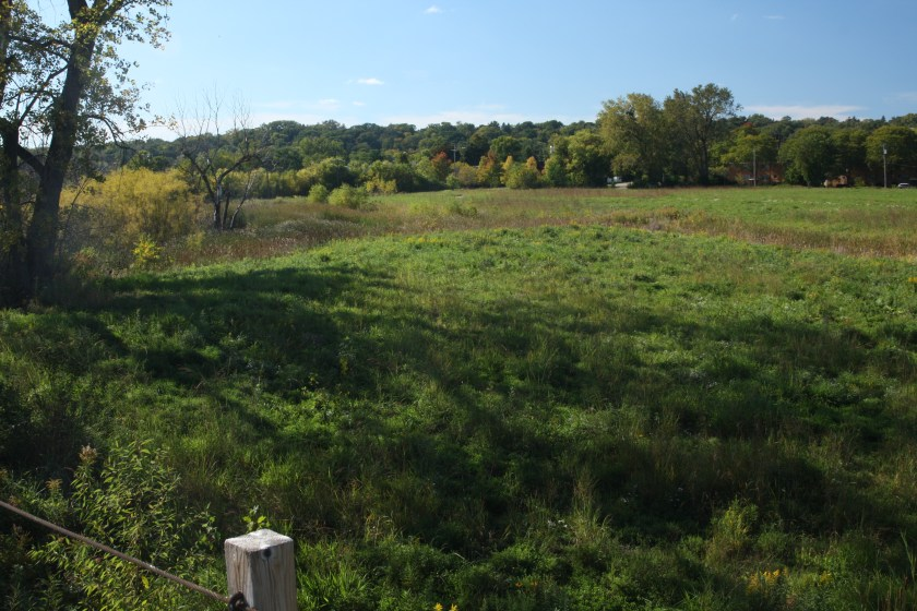 Again from the bridge, now looking northwest, a large prairie.