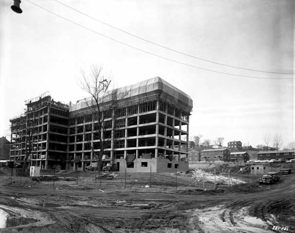 The Mount Airy Hi-Rise superstructure in 1958. Courtesy Minnesota Historical Society