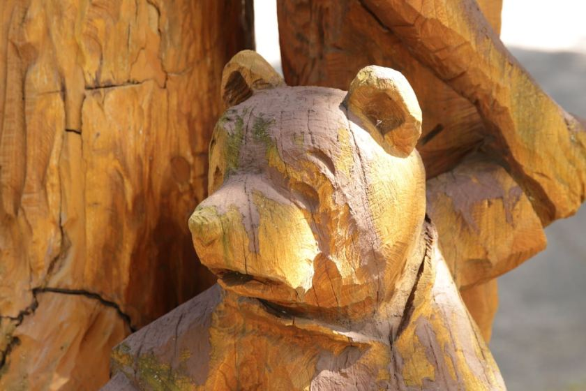 The detail of the carving almost brings Pooh alive.