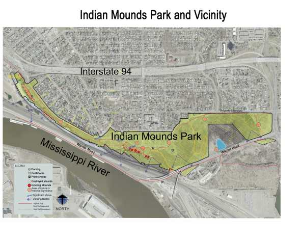 The sprawling Indian Mounds Regional Park.