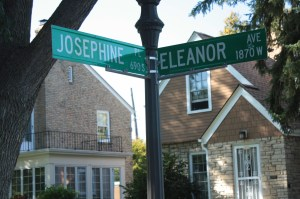 The intersection of Josephine & Eleanor.