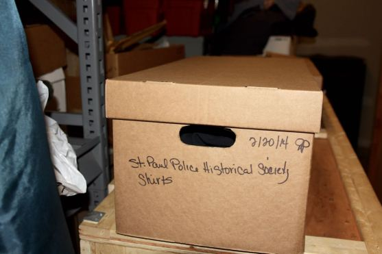 Boxes of artifacts are stored in closets and the police department.