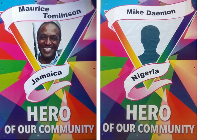 Pride Walk 2018 honored Caribbean activist Maurice Tomlinson and Nigerian activist Mike Daemon, both of whom often write for this blog. (Photos courtesy of Pride Walk)
