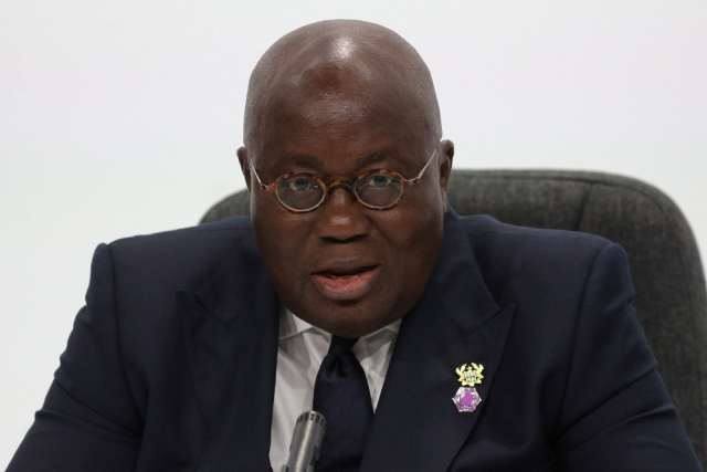 Nana Akufo-Addo, president of Ghana (Daniel Leal-Olivas photo courtesy of Agence France-Presse)