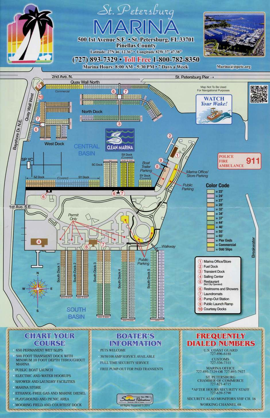St Pete Municipal Marina Map
